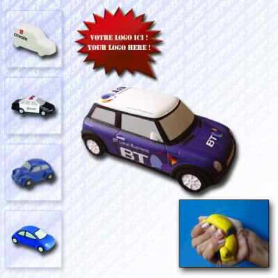 Balle anti-stress design automobile