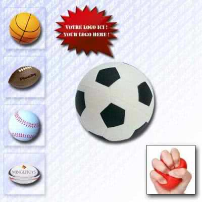 Balle anti-stress design ballon de sport