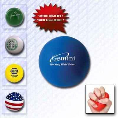 Balle anti-stress personnalisé en polyéthylène